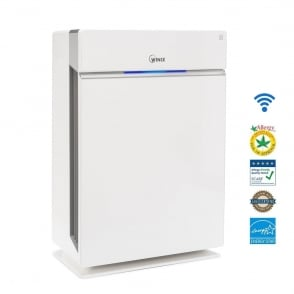 HR1000 Room Air Purifier with Wi-Fi and Smartphone Control.