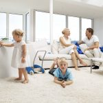 Classic air purifier with family