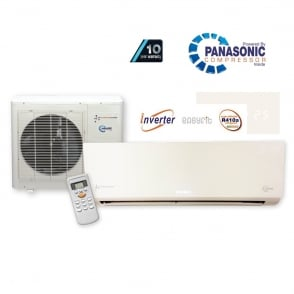 Chigo KFR33 Super Inverter Wall Mounted Heat and Cool Air Conditioner with Panasonic Power and 10 Year Warranty Option