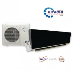 KFR56 Black Glosss Super Inverter Wall Mounted Heat and Cool Air Conditioner with Hitachi Power