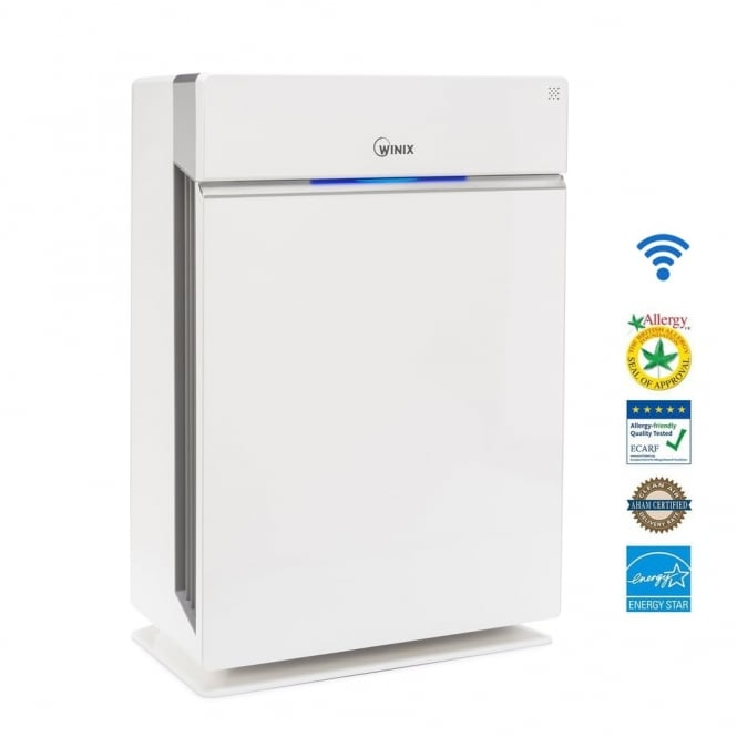 Winix HR1000 Room Air Purifier with Wi-Fi and Smartphone Control.